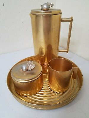 Rare Vintage Georges Briard Pear Tea Coffee Serving Set MCM Mid Century Copper