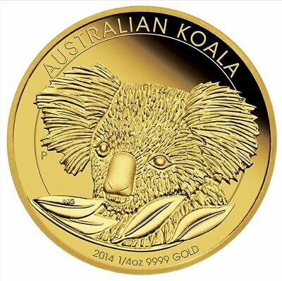2014 Australian Koala 1/4oz .9999 Gold Bullion Coin - The Perth Mint