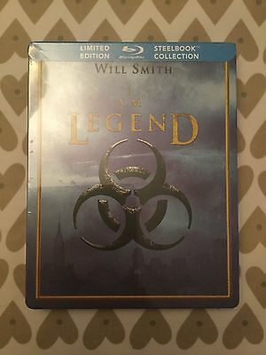 Will Smith I Am Legend Bluray Limited Edition Canadian Steelbook Rare New Sealed