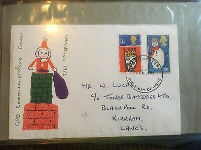 1966 Christmas First Day Cover Great Britain