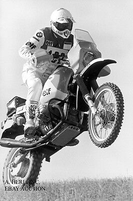 BMW GS 1000 works Paris Dakar 1985 & Eddy Hau - Paris Dakar Rally 1985 - photo