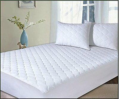 Extra Deep Quilted Mattress Protector - 25Cm Cotton Fitted Skirt - Colinnnn