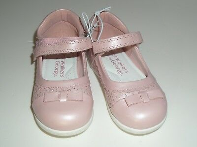 Pink Metallic Baby First Walkers Size 7 Kids Girls Shoes Bnwt