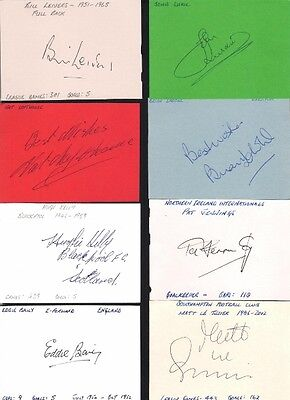 Signed card by NAT LOFTHOUSE the BOLTON WANDERERS footballer