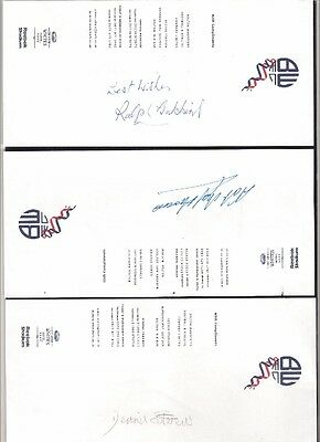 BOLTON WANDERERS Football Club Compliment Slip signed by NAT LOFTHOUSE