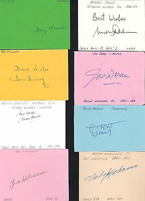 Signed card by NAT LOFTHOUSE the BOLTON WANDERERS & ENGLAND footballer