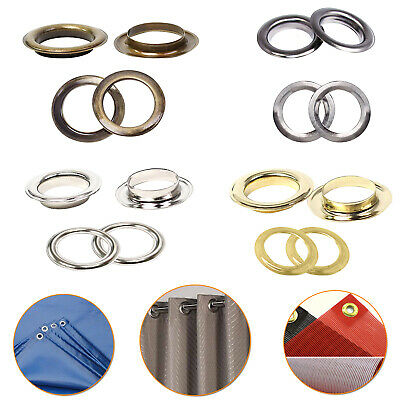 40mm Brass Eyelets Grommet with Washers Rust Proof DIY Curtain Drapes PVC Banner