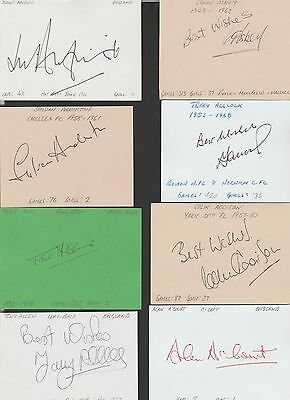 Signed card by TERRY ALLCOCK the 1953-68 BOLTON & NORWICH footballer