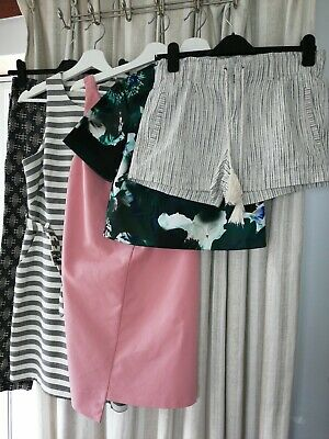 Women's Bundle Of Clothing Size Uk 8 Trousers Dresses Shorts Zara New Look...