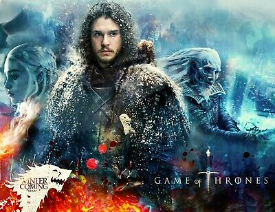 GAME OF THRONES GOT TV JON SNOW Inspired Season Metal Wall Man CAVE Poster Sign