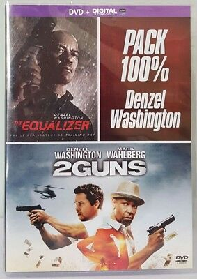DVD PACK NEUF // 2 FILMS ** THE EQUALIZER et 2 GUNS **