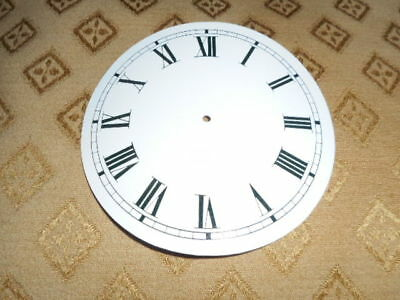 "Round Paper Clock Dial- 4 1/4"" M/T-Roman-GLOSS WHITE - Face/Clock Parts/Spares #"
