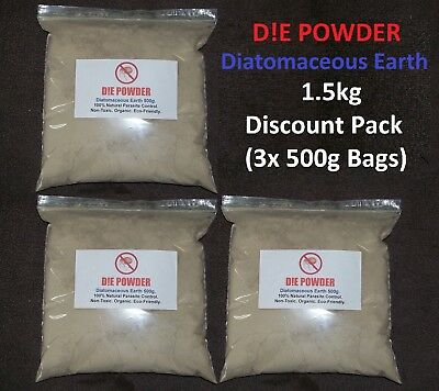 D!E POWDER DIATOMACEOUS EARTH 1.5kg DISC. PACK POULTRY WORMER/REDMITE/FLEA/LICE