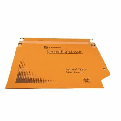 Rexel Crystalfile Classic Lateral File 50mm 500 Sheet Orange  [TW70673]