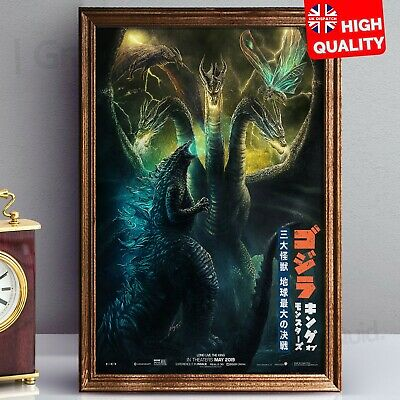 Godzilla King of the Monsters Movie 2019 Japanese Style Poster | A4 A3 A2 A1 |