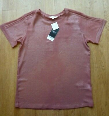 Women's Next Pink Shimmer Party Top Size 8 Brand New