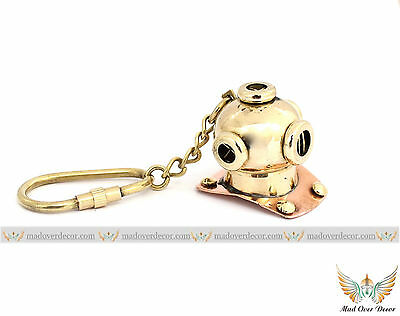 New Brass Divers Helmet Keychain Nautical Diving Keyring Gift ITEM