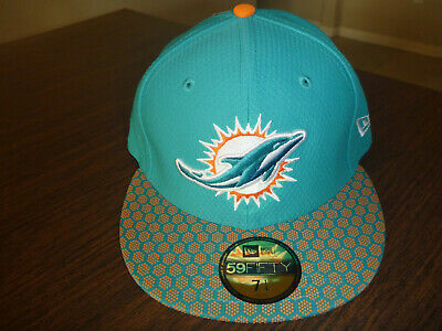 21bc53c767205 Miami Dolphins New Era 59Fifty On Field Sideline Game Aqua Fitted Hat Size 7  1