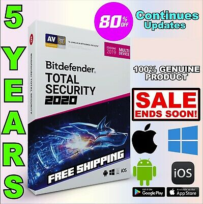 Bitdefender Total Security 2020 - 5 Years | Download Link WIN MAC ANDROID