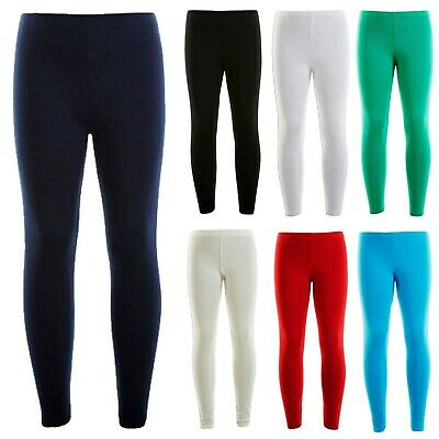 New Kids Girls Winter Thick Cotton Legging Warm Stretch Leggings 7-13 Years