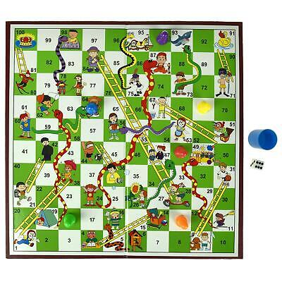 Traditional Board Game Snakes And Ladders Set Kids Adult Toy Classic Family Fun