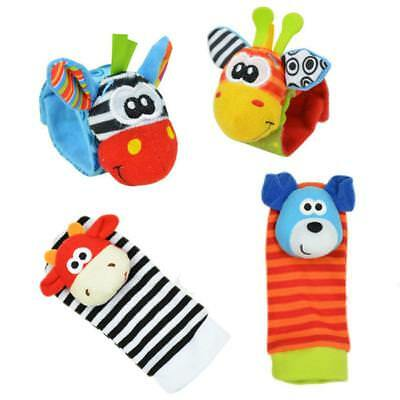 Bundle Activity Cute Socks & Wrist Rattles Soft Infant Baby Toy HOT SELL