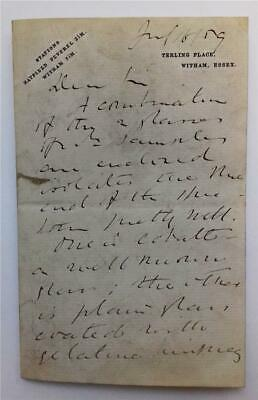 LORD RAYLEIGH (3rd BARON RAYLEIGH) (1842-1919)  BRITISH SCIENTIST Signed letter