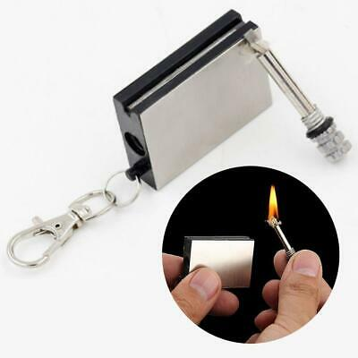 Permanent Matches Metal Box Square Lighter Cigarette Camping Keyring Novelty