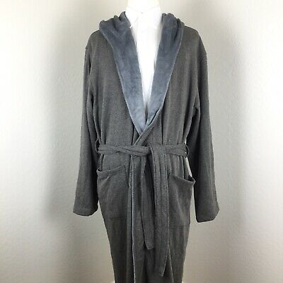 6935f92c97a NWT UGG MEN'S BRUNSWICK Hooded Soft Fleece Plush Bath Robe STOUT ...