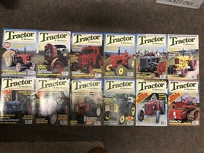 Tractor & Machinery 12 x Vintage Magazine, January 1997 - December 1997
