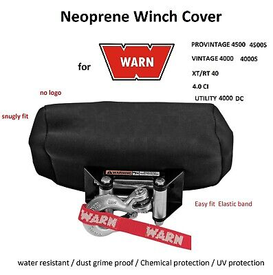 WARN Winch Neoprene Cover for 4000 4500lb PRO Vintage XT RT CI Utility DC M 02