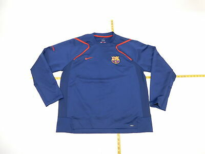 6d62fe94704 Mens Nike FC Barcelona 2XL Regular Crewneck Sweatshirt Blue Long Sleeve