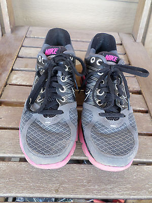 aff524032d90 NIKE FLYWIRE LUNARGLIDE 2 Gray Blue Running Athletic Shoes Womens s ...