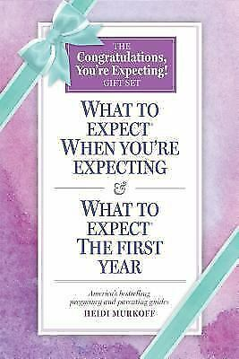 Congratulations, What to Expect When You're Expecting!: BABY Books Gift Set NEW