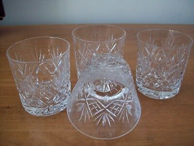 4 X  Edinburgh Crystal Embassy Whisky Glasses