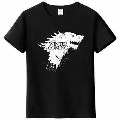 Stark Short Sleeve Game of Thrones Men T-shirt Casual Winter Is Coming