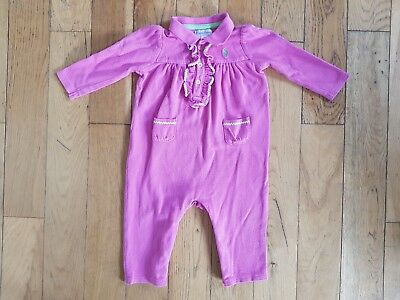 efe6b5e43 RALPH LAUREN GIRL Baby grow Play suit Rompers Pink White T shirt ...