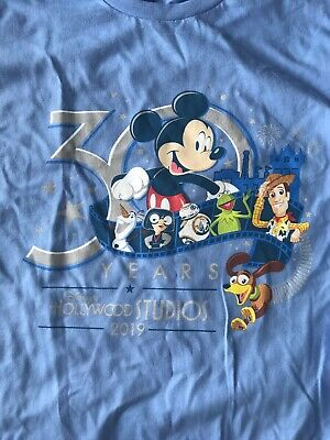 Disney Hollywood Studios 30th Anniversary 2019 T-Shirt Blue New Large