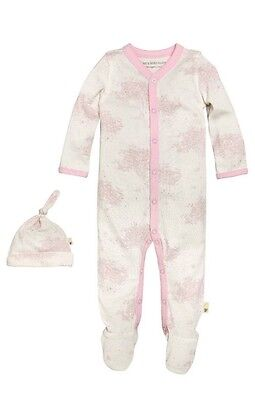 Burts Bees Baby Girl Organic Coverall Hat Set Size 3 24 Months Layette Pink Hive