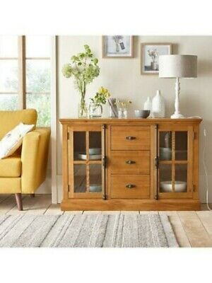 Ideal Home Whitford Solid Wood (oak) Assembled 2 Door, 3 Drawer Large Sideboard