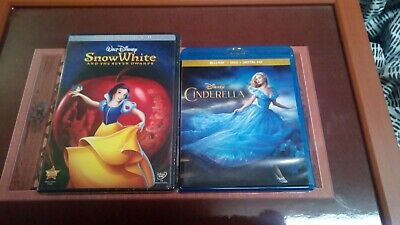 Snow White and the Seven Dwarfs (2-Disc DVD) and Cinderella (Blu-ray/dvd) bundle