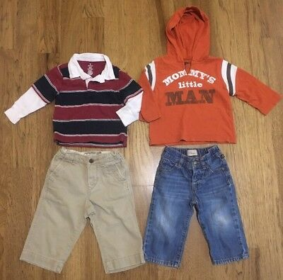 Lot Of Baby/Toddler Boy Clothes Size 12-18 Months: Shirts-Jeans-Khakis