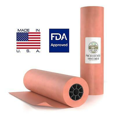 """18""""X200' Pink/Peach Butcher Paper Roll BBQ Style Meat Smoker Safe FDA Wrapping"""