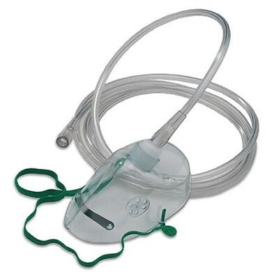 NHS Standard Oxygen (Breathing) Mask - Adult Size - Elongated - 2m tube (2-Pack)