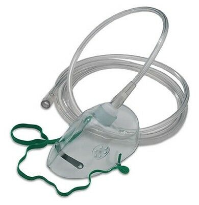 NHS Standard Oxygen (Breathing) Mask - Adult Size - Elongated - 2m tube (4-Pack)