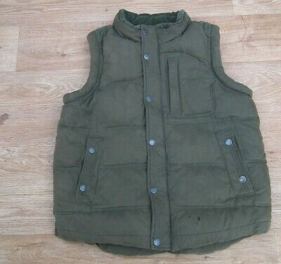 FAT FACE Boys Brown Padded Body Warmer / Gilet Age 10 - 11 VGC
