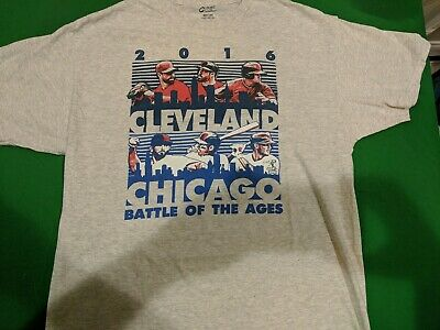 Chicago Cubs vs Cleveland Indians World Series T-shirt Large