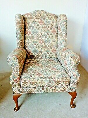 Traditional Vintage Wing Armchair Parker Knoll Style / Reading Chair / Fireside
