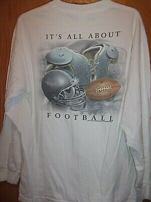 Its All about Football white L jersey