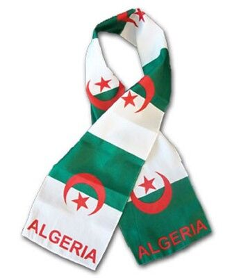 "Algeria Country Lightweight Flag Printed Knitted Style Scarf 8""x60"""